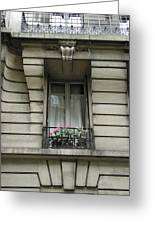 Windows Of Paris Greeting Card