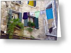 Windows Of Venice Greeting Card
