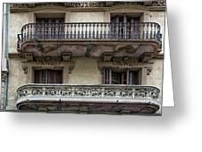 Windows Over Barcelona Greeting Card