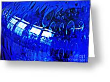Windows Reflected On A Blue Bowl 3 Greeting Card