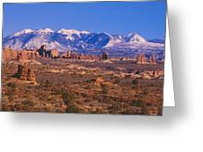 Windows Section, Arches National Park Greeting Card