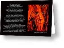 Winds Of Fire - Poetry In Art Greeting Card