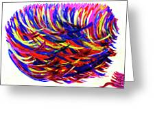 Winds Of Paint Greeting Card