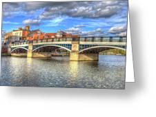 Windsor Bridge River Thames Greeting Card