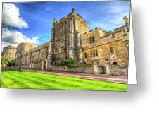 Windsor Castle Architecture Greeting Card