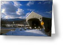 Windsor Cornish Bridge And Mount Ascutney Greeting Card