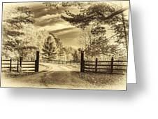 Windstone Farm - Sepia Greeting Card
