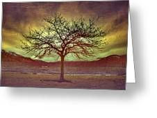 Windstorm At Skaha Lake Greeting Card