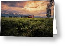 Windstorm On The Prairie Greeting Card
