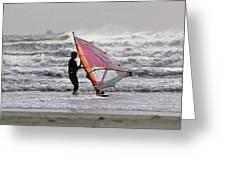 Windsurfer, Aransas Pass, Texas Greeting Card