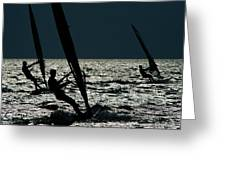 Windsurfing At Cape Hatteras National Greeting Card