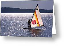 Windsurfing Lake Champlain Greeting Card