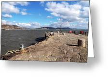 Windswept Cobb - Lyme Regis Greeting Card
