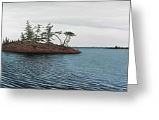 Windswept Island Georgian Bay Greeting Card