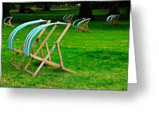 Windy Chairs Greeting Card by Harry Spitz