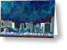 Windy Chicago Illinois Skyline Party Nights 20180516 Greeting Card