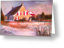 Windy Cold Sunny Day Greeting Card