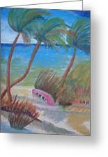 Windy Palms Greeting Card