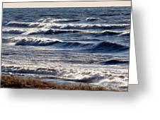 Windy Spring Lake Huron Greeting Card