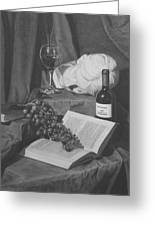 Wine And A Book Greeting Card