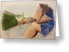 Wine And Bracelets Greeting Card