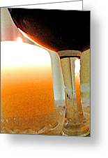 Wine And Candle Greeting Card