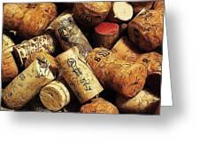 Wine And Champagme Corks Greeting Card