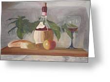 Italian Wine And Cheese Greeting Card