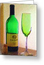 Wine And Glass 2 Greeting Card
