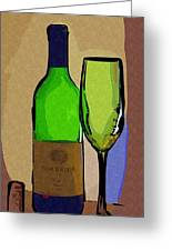 Wine And Glass Greeting Card