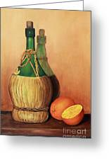 Wine And Oranges Greeting Card