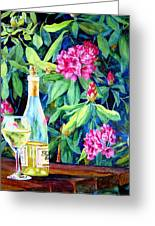 Wine And Rhodies Greeting Card