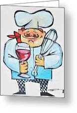 Wine And Wisk Chef Greeting Card