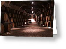 Wine Barrels Greeting Card