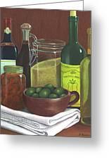 Wine Bottles And Jars Greeting Card