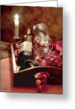 Wine By Candle Light II Greeting Card by Tom Mc Nemar