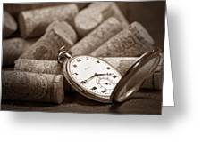 Wine Corks Still Life Vi Aged To Perfection Greeting Card by Tom Mc Nemar