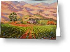 Wine Country II - Talley Vineyard Arroyo Grande Greeting Card