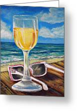 Wine Ding Down Greeting Card