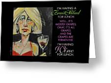 Wine For Lunch Poster Greeting Card
