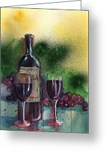 Wine For Two Greeting Card by Sharon Mick