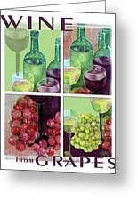 Wine From Grapes Collage Greeting Card