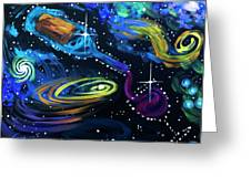 Wine Galaxy Greeting Card