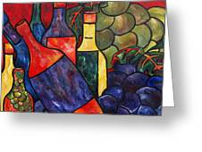 Wine In Color Greeting Card