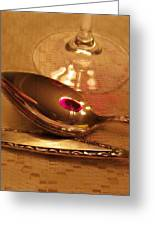 Wine In The Spoon Greeting Card