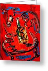 Wine Jazz Greeting Card