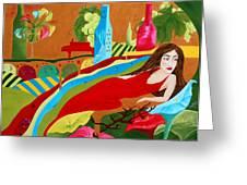 Wine Mirage Greeting Card