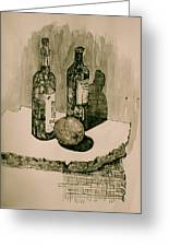 Wine On The Rock Greeting Card