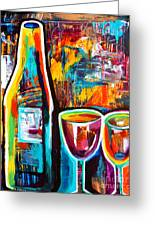Wine Lovers Abstract Greeting Card