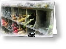 Wine Rack Mixed Media 01 Greeting Card